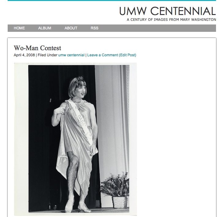 UMW Centennial Blog
